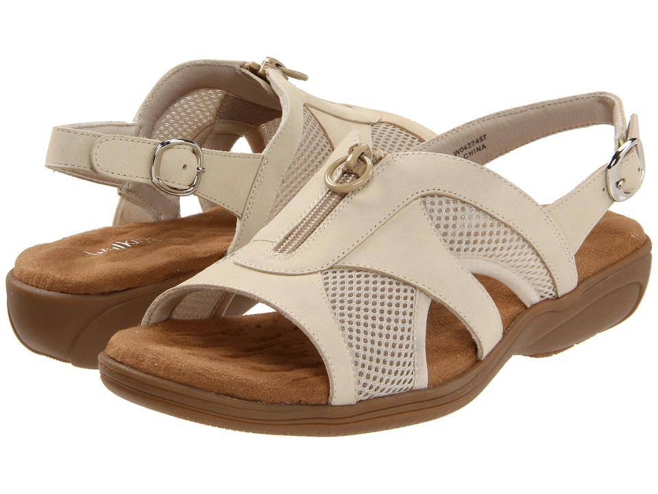 Walking Cradles - Cherry (Beige Nubuck/Mesh) Women's Sling Back Shoes