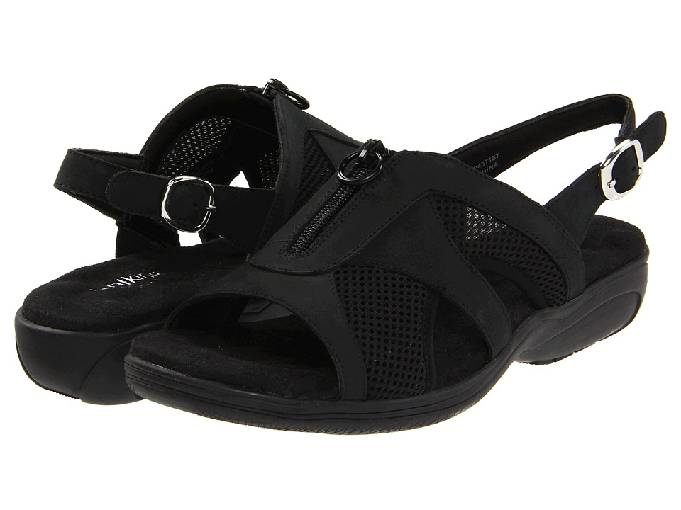 Walking Cradles - Cherry (Black Nubuck/Mesh) Women's Sling Back Shoes