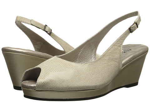 Walking Cradles - Natasha (New Gold Lizard Print) Women's Wedge Shoes