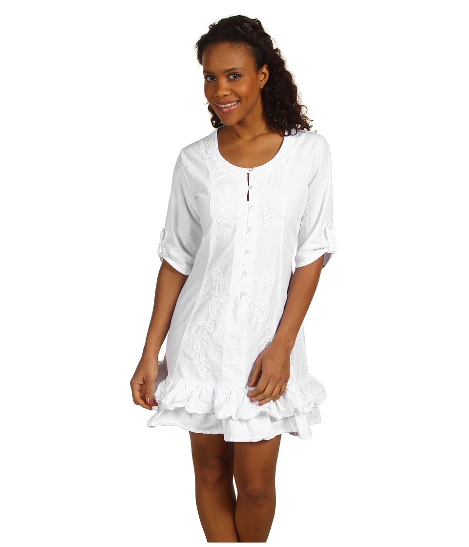 Scully - Cantina Tie Back Kristyn Dress (White) Women's Dress