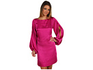 Laundry by Shelli Segal - Split Sleeve Shift Dress (Shocking Pink) - Apparel