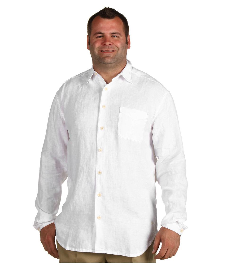Tommy Bahama Big & Tall Big Tall Beachy Breezer L/S Shirt Mens Long Sleeve Button Up (White)