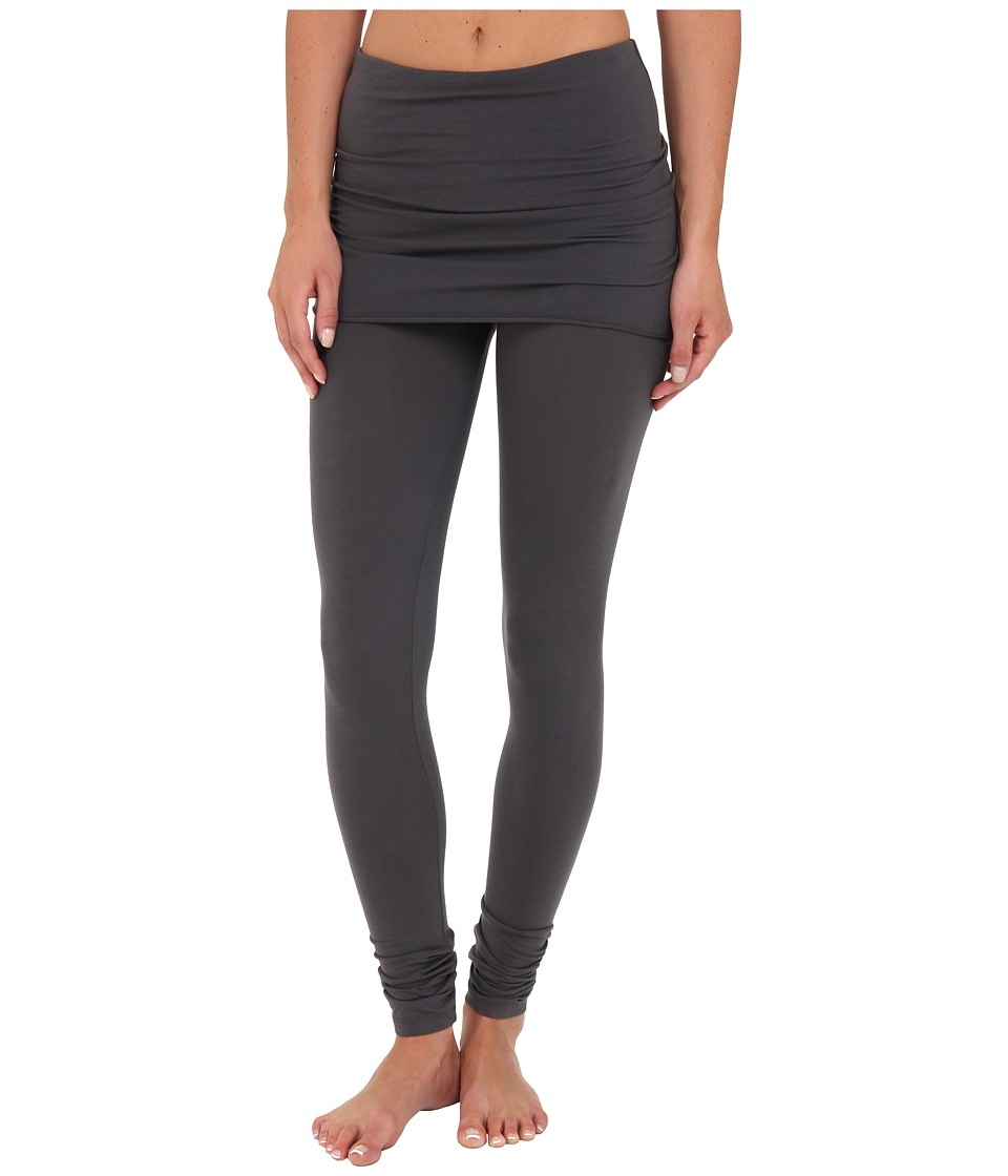 Splendid - Jersey Legging w/ Oversized Foldover Waist (Coal) Women's Clothing