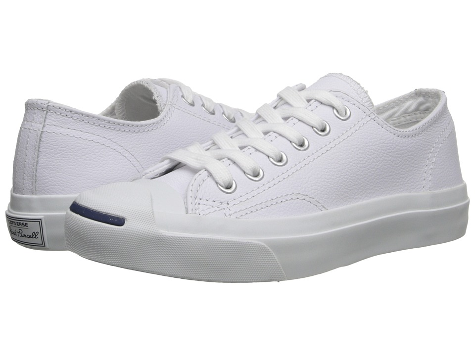 Converse - Jack Purcell Leather (White/Navy) Classic Shoes