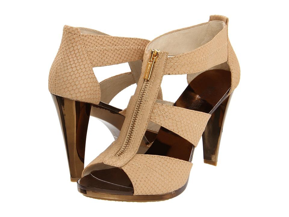 MICHAEL Michael Kors - Berkley T-Strap (Nude) High Heels
