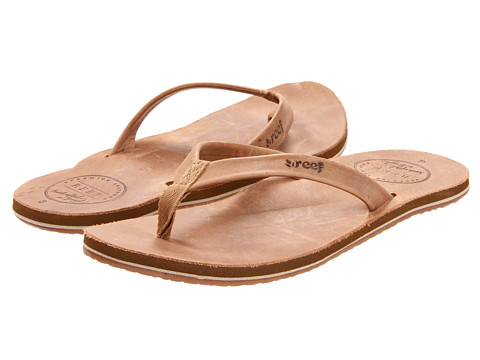 Reef - Skinny Leather (Tobacco) Women's Sandals