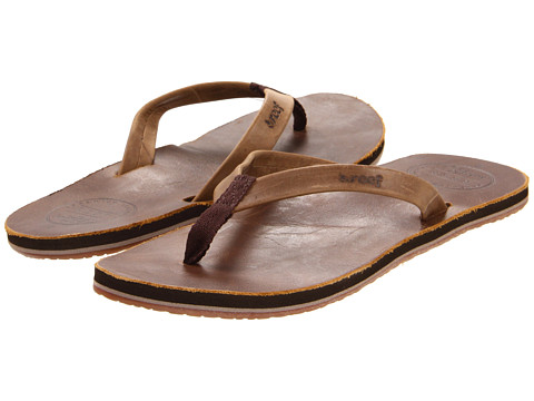 Reef - Skinny Leather (Brown) Women's Sandals