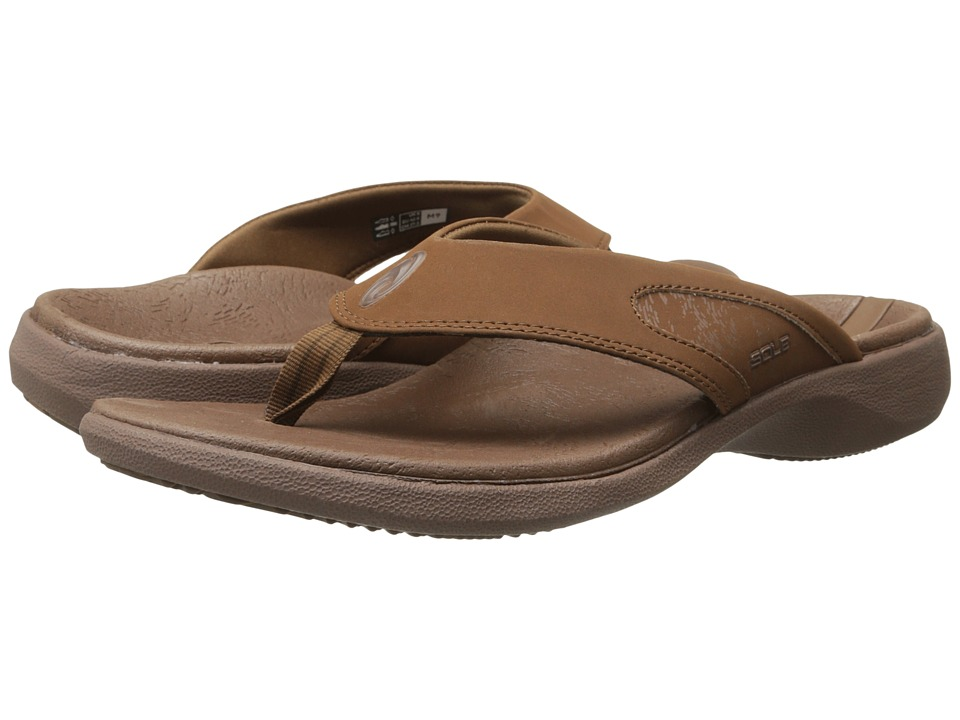 SOLE - Sport Flips (Coffee) Men's Sandals
