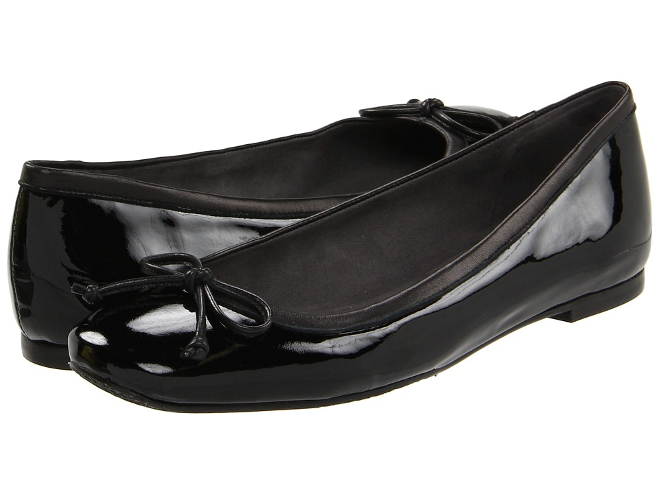 Stuart Weitzman - Shoestring (Black Patent) Women's Slip on Shoes