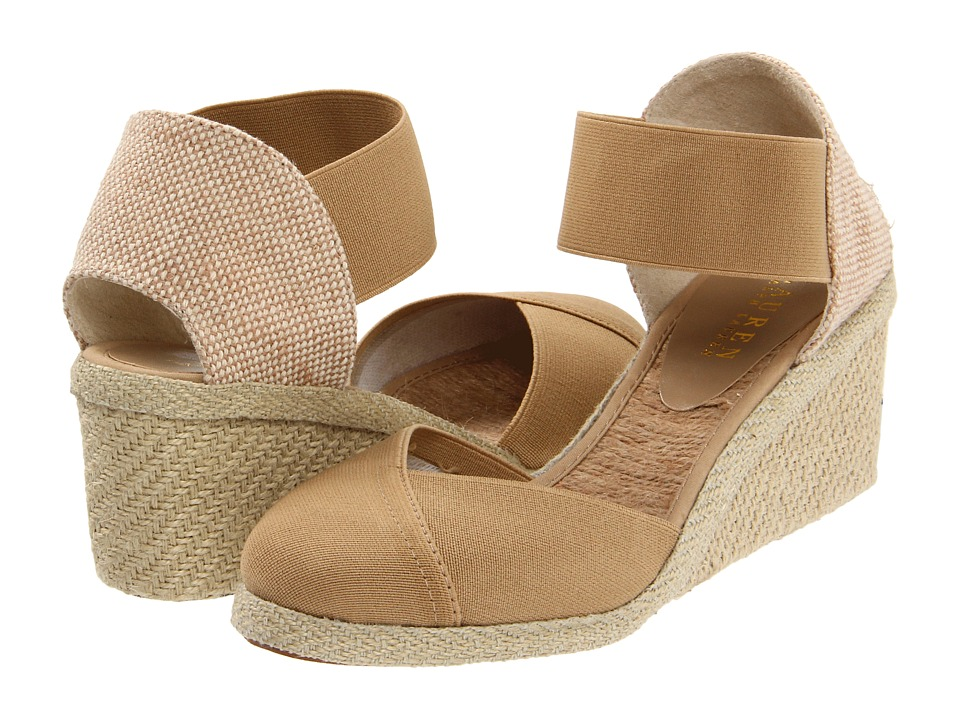 LAUREN by Ralph Lauren - Charla (Light Clove) Women's Wedge Shoes