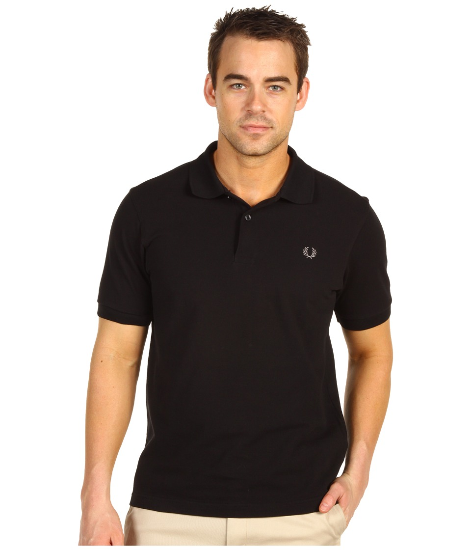Fred Perry - Solid Polo (Black/Chrome) Men