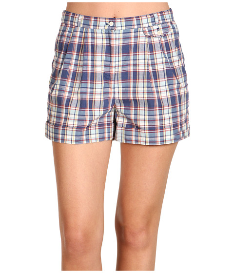 Fred Perry - Check Shorts (Kit Blue) Women's Clothing