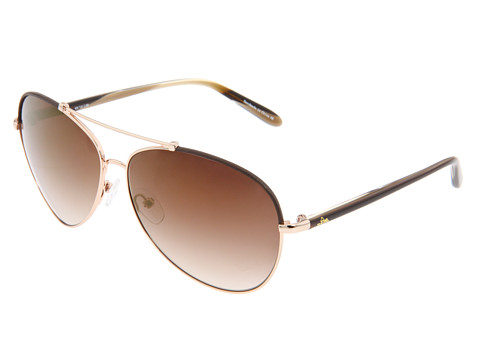Lilly Pulitzer Allie (Brown/Gold/Gradient Brown/Gold Flash) Metal Frame Fashion Sunglasses