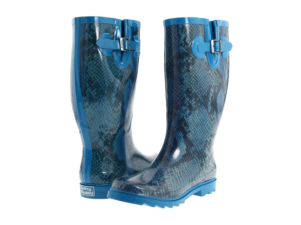Dirty Laundry - Raindrop Tango (Blue Multi) Women's Rain Boots