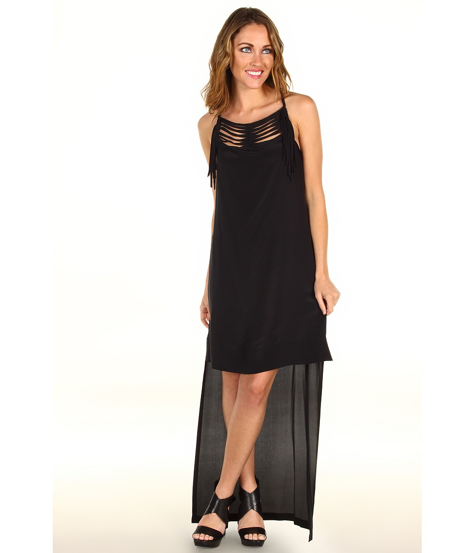 BCBGMAXAZRIA Tamsyn Hi-Low Dress (Black) Women
