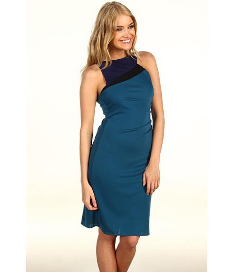 BCBGMAXAZRIA - Adair Asymmetrical Cocktail Dress (Bright Teal) Women's Dress