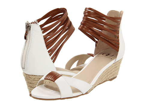 Kelsi Dagger - Paula (Cognac/White) Women's Wedge Shoes