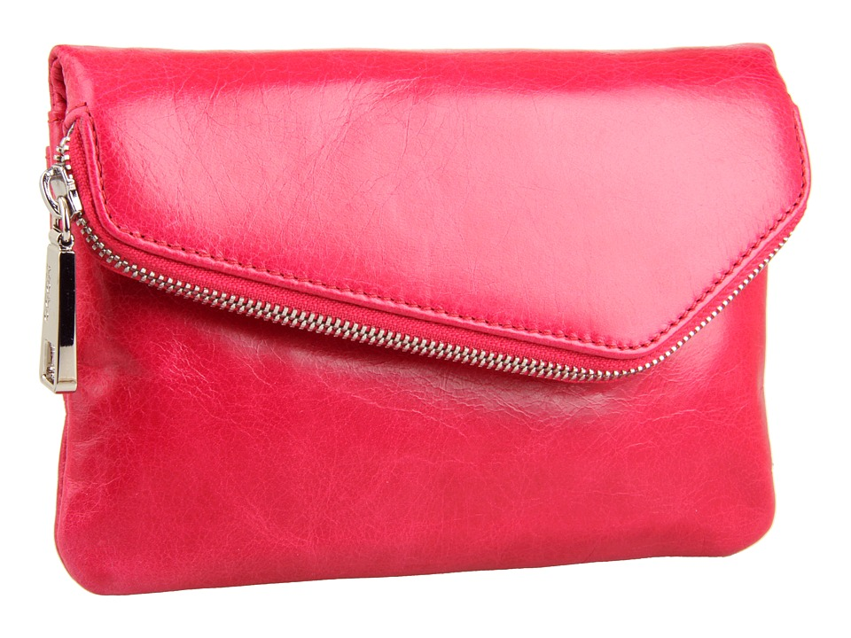 Hobo - Daria (Fuchsia Vintage Leather) Clutch Handbags