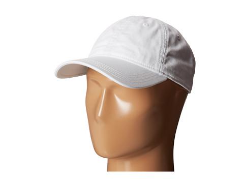 Lacoste - Green Croc Gabardine Cotton Cap (White) Caps