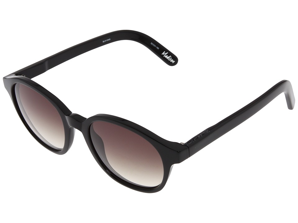 Elizabeth and James - Madison (Shiny Black/Brown Gradient) Fashion Sunglasses