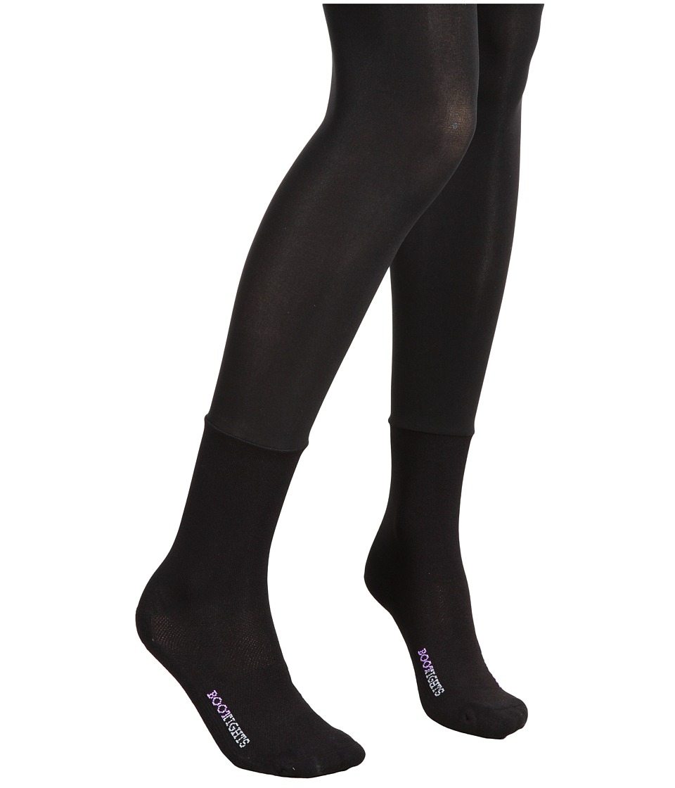 BOOTIGHTS - Core Semi-Opaque Tight/Mid-Calf Sock (Jet Black) Hose