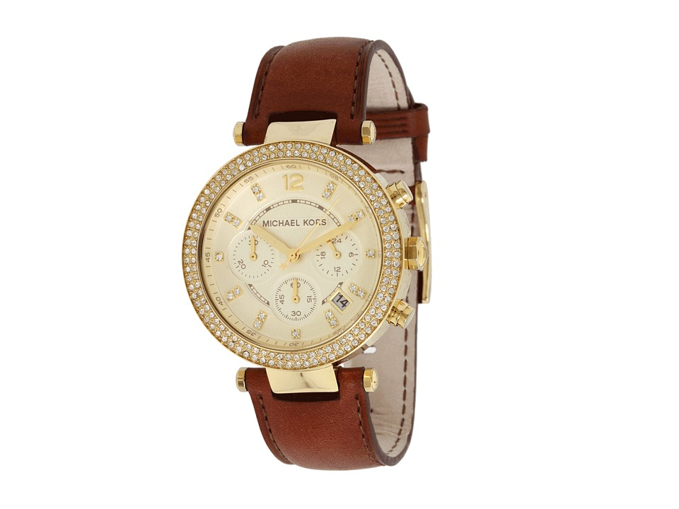 Michael Kors - MK2249 - Parker Chronograph (Chocolate/Gold) Watches