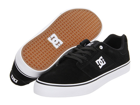 DC - Bridge (Black/White) Men's Skate Shoes