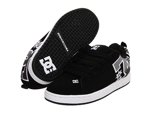 DC - Court Graffik SE (Black/Grey) Men's Skate Shoes