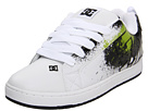 DC - Court Graffik SE (White/Soft Lime/Black) - Footwear