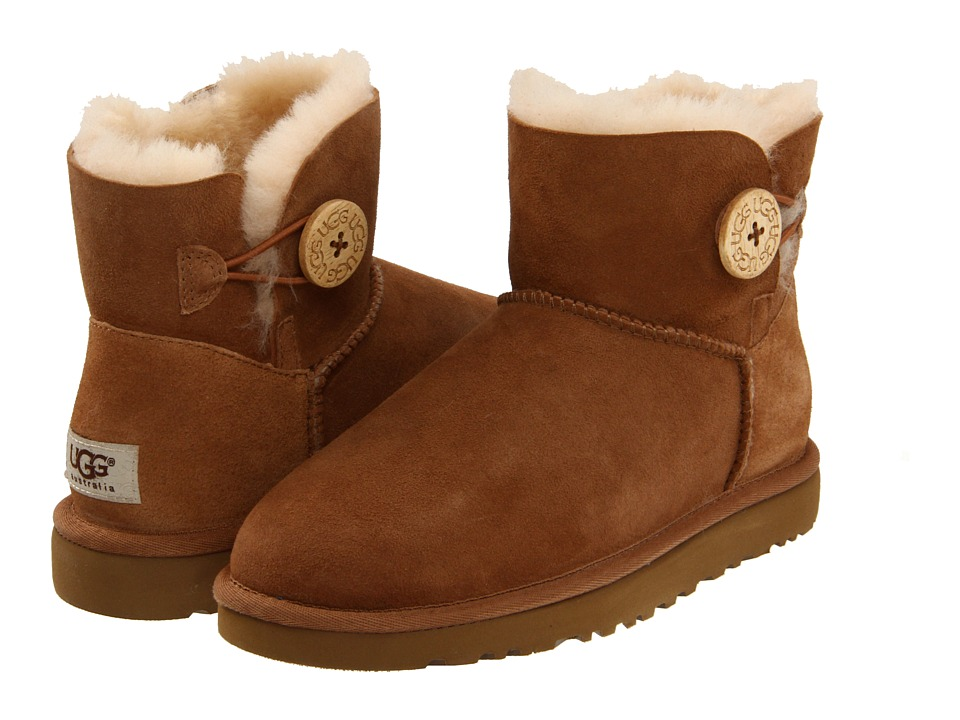 UGG - Mini Bailey Button (Chestnut) Women's Pull-on Boots