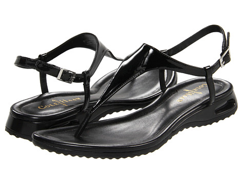 Cole Haan Air Bria Thong Sandal (Black Patent) Women's Sandals