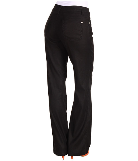 Miraclebody Jeans Carly Stretch Linen Wide Leg Trouser (Black) Women's Casual Pants