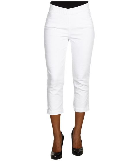 Miraclebody Jeans - Louise Pull-On Cropped Jegging (White) Women