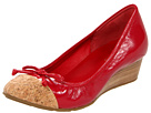 Cole Haan - Air Tali Lace Wedge (Red Tango Patent/Cork) - Cole Haan Shoes