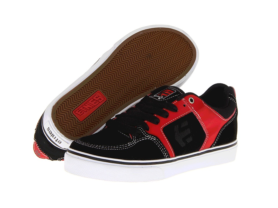 etnies - Sheckler 6 Fusion (Black/Red/White (Suede/Action Nubuck)) Men's Skate Shoes