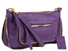 Linea Pelle - Dylan Top Zip Crossbody (Amethyst) - Bags and Luggage