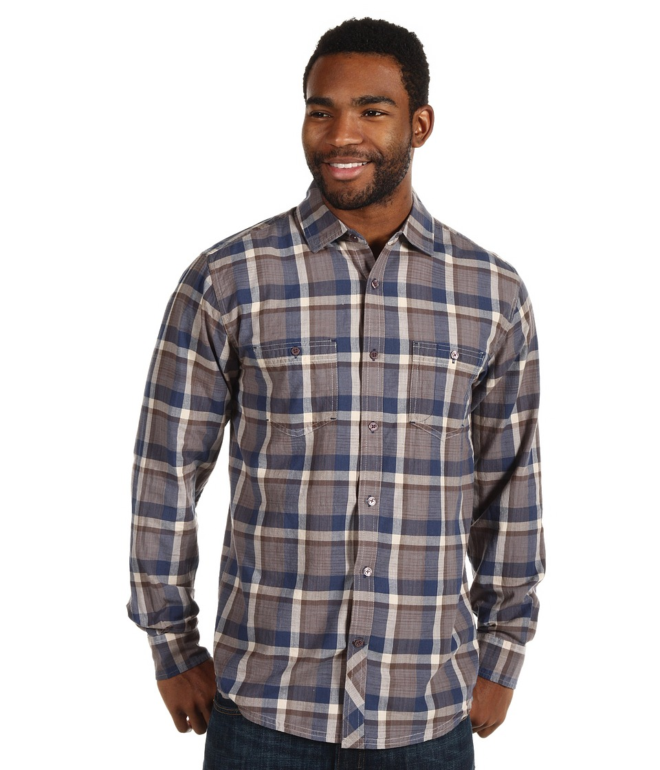 Toad&Co - Smythy Long Sleeve Shirt (Deep Blue) Men's Clothing