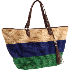 SALE! $164.99 - Save $110 on Rafe New York Kim Straw Tote (Blue) Bags and Luggage - 40.00% OFF $275.00