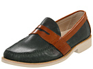 Cole Haan - Air Monroe Eva Penny (Teal Suede/Cognac) - Cole Haan Shoes