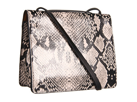 BCBGMAXAZRIA - Loren Snake Shoulder Bag (Black/White) Shoulder Handbags