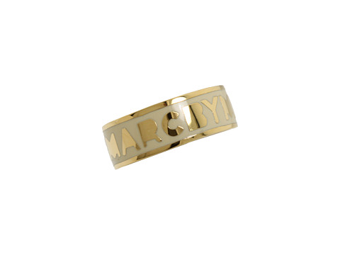 Marc by Marc Jacobs - Classic Marc Dreamy Logo Ring (Cream) Ring