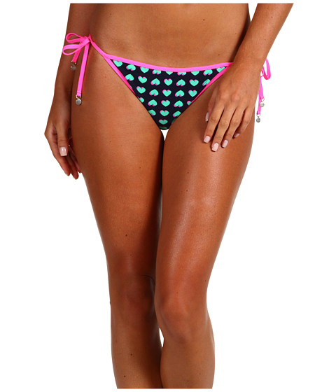 Shop Marc by Marc Jacobs online and buy Marc by Marc Jacobs Light Hearted Reversible String Bottom Ink Multi Women's Swimwear swimwsuits online