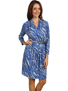 SALE! $56.99 - Save $82 on Anne Klein Raindrop Print 3 4 Sleeve Dress (Multi) Apparel - 59.00% OFF $139.00