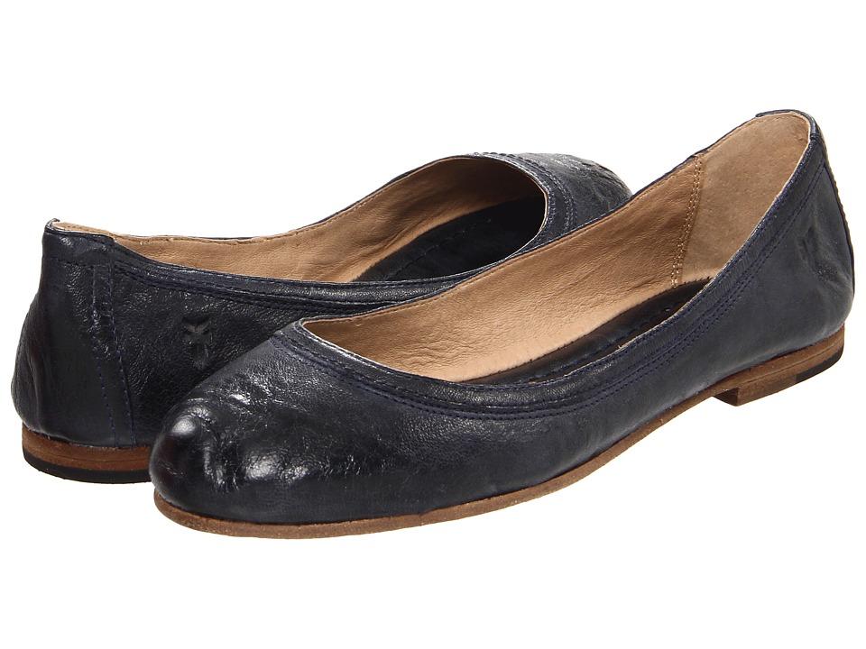 Frye Carson Ballet (Navy Antique Soft Full Grain) Women