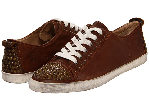 Frye - Kira Studded Low (Cognac Soft Vintage Leather) Women's Lace up casual Shoes