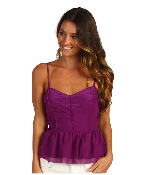 Juicy Couture - Chiffon Top with Cutout Back (Dark Orchid) Women
