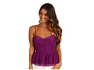 Juicy Couture - Chiffon Top with Cutout Back (Dark Orchid) - Apparel