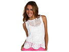 Juicy Couture - Festival Hand Crochet Top (White) - Apparel