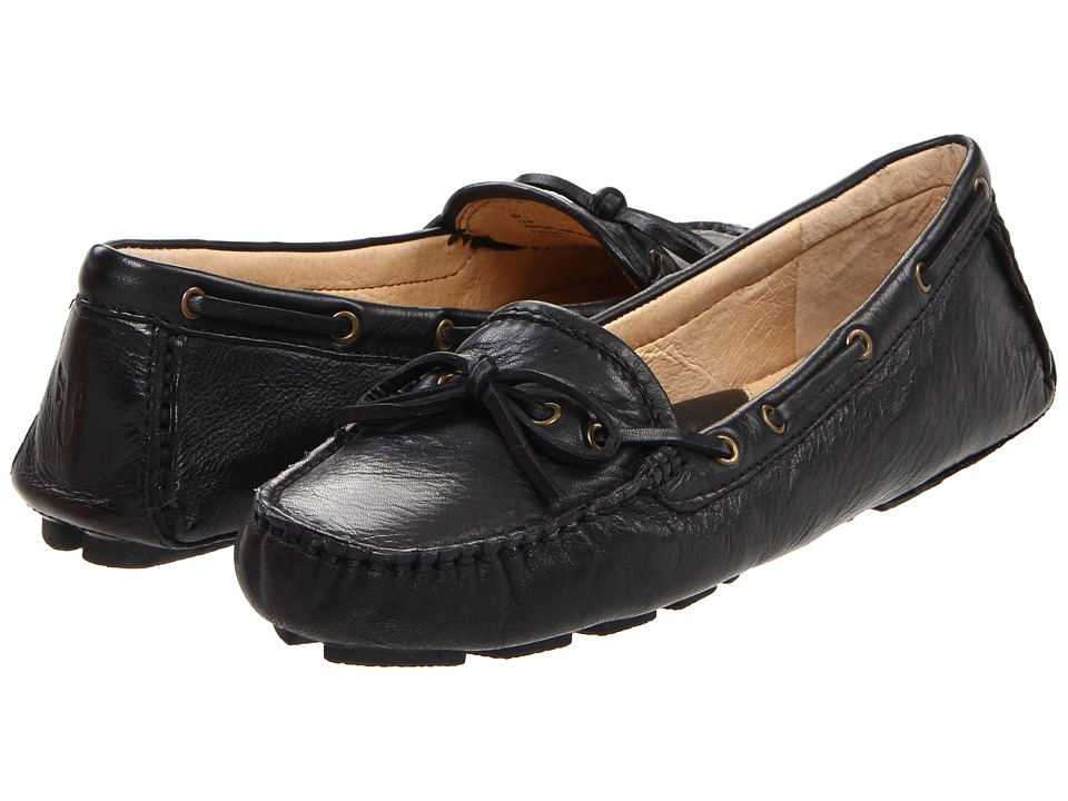 Frye - Reagan Campus Driver (Black Soft Vintage Leather) Women