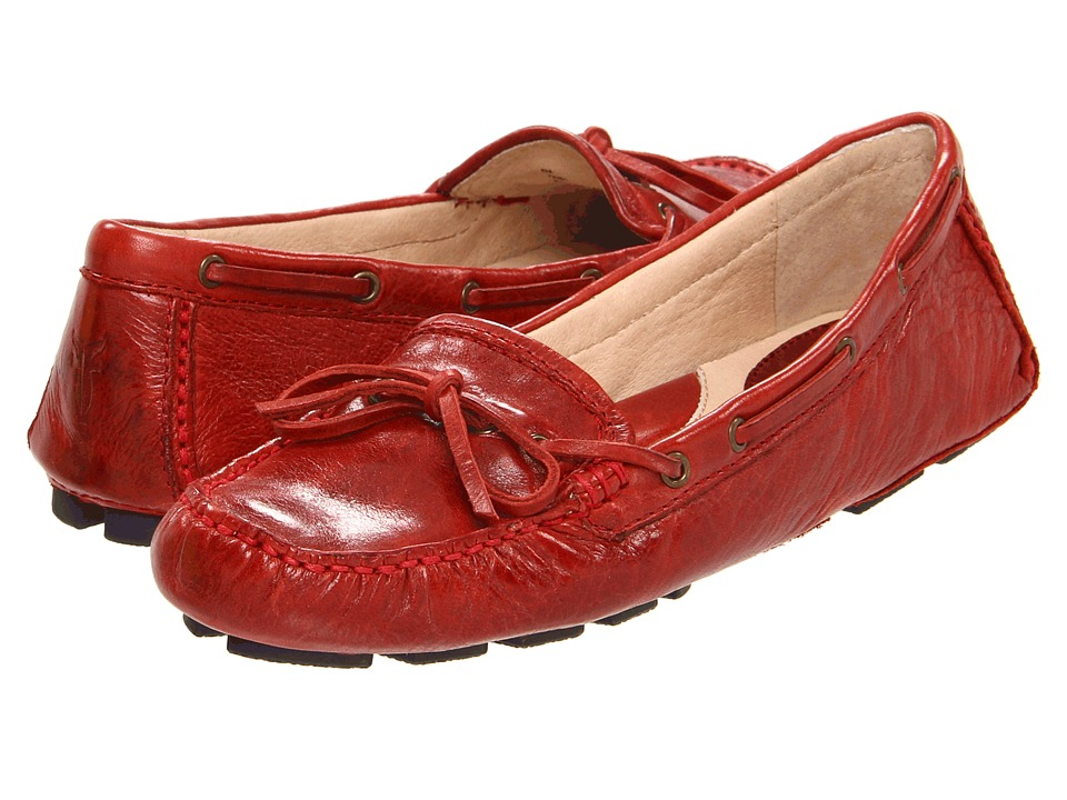 Frye - Reagan Campus Driver (Burnt Red Soft Vintage Leather) Women